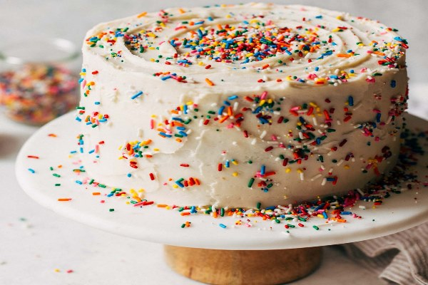 Vanilla with sprinkles